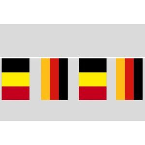 Party-Flaggenkette : Deutschland - Belgien