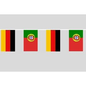 Party-Flaggenkette : Deutschland - Portugal