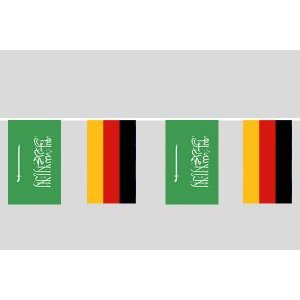 Party-Flaggenkette : Deutschland - Saudi-Arabien