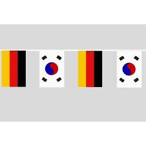 Party-Flaggenkette : Deutschland - Südkorea