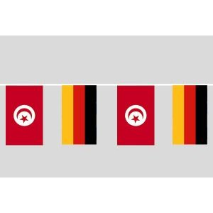 Party-Flaggenkette : Deutschland - Tunesien