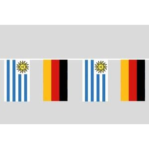 Party-Flaggenkette : Deutschland - Uruguay
