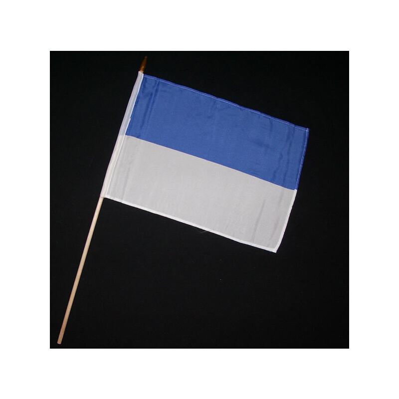 Stock-Flagge 30 X 45 : Schützenfest Blau-weiß, 3,50