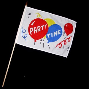 Stock-Flagge 30 x 45 : Party Time