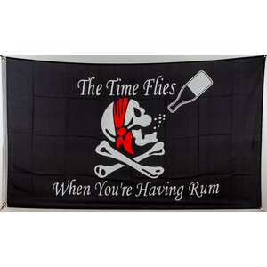 Flagge 90 x 150 : The time flies when youre having rum