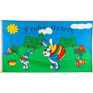Flagge 90 x 150 : Ostern Frohe Ostern