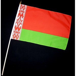 Stock-Flagge 30 x 45 : Weißrussland